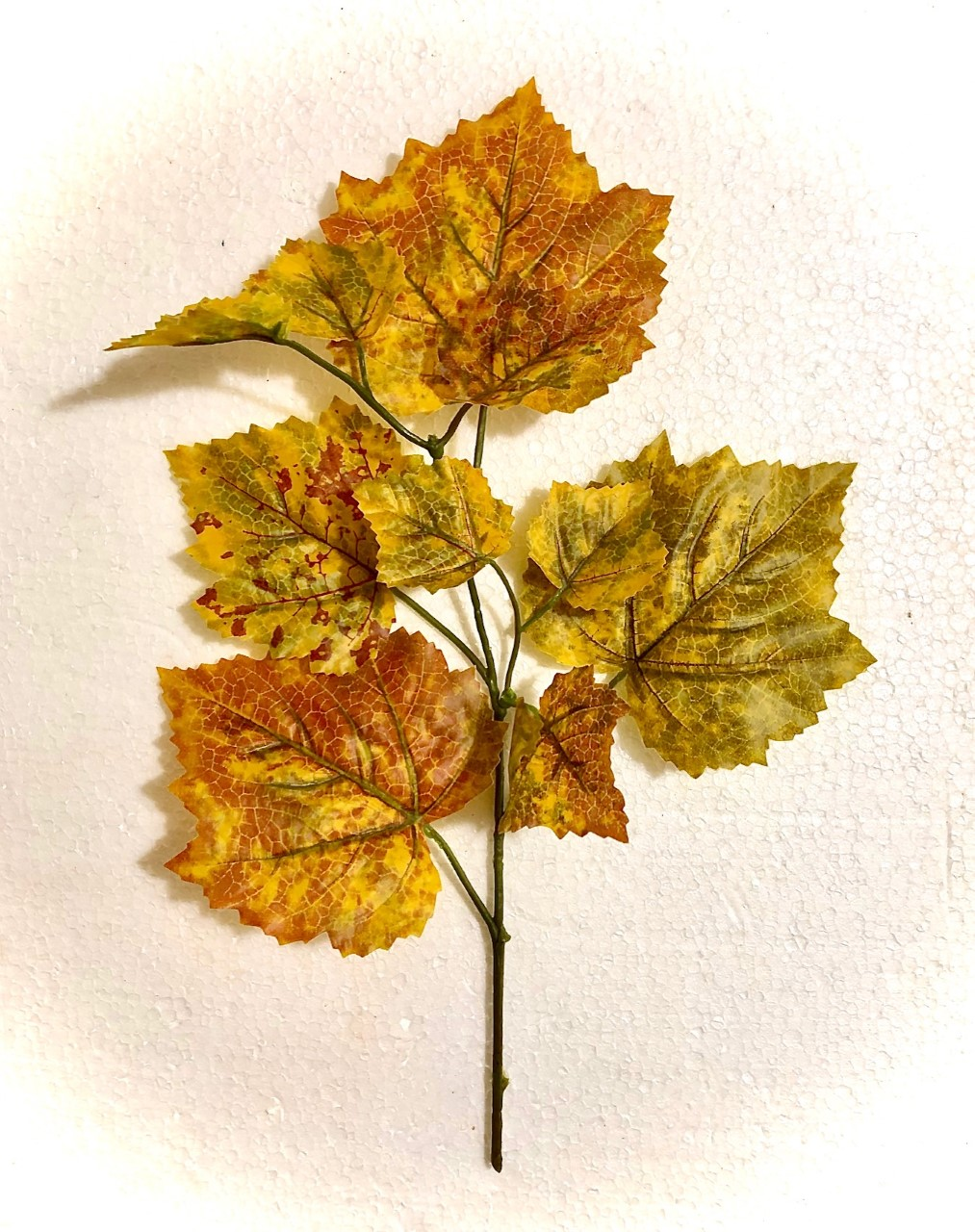 Fake 'Autumnal Coloured' Leaves
