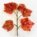 Fake 'Autumnal Red Coloured' Leaves (20-25cm)