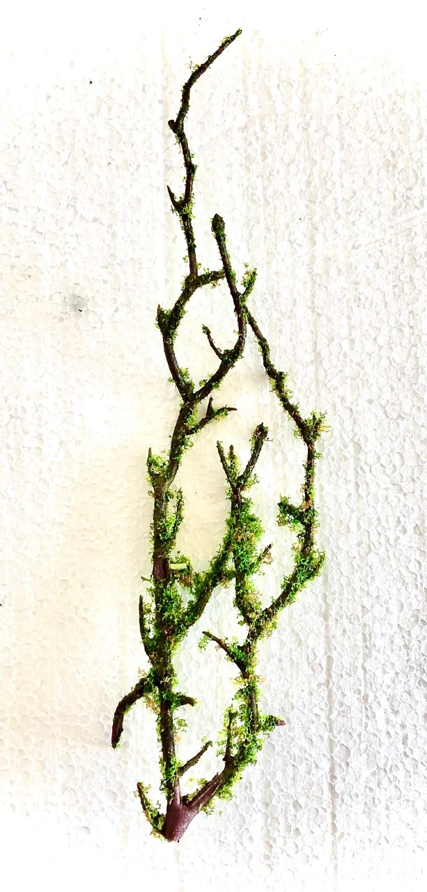 "Fake ""Moss"" Branches (small) (25cm)"