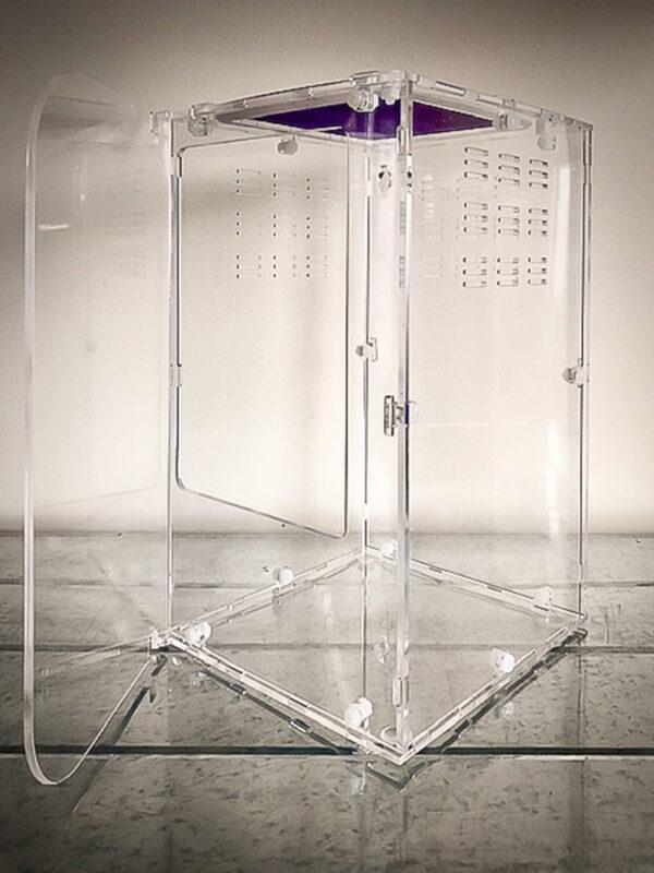 Acrylic Vivariums (Mesh Lid/Front Opening Door)